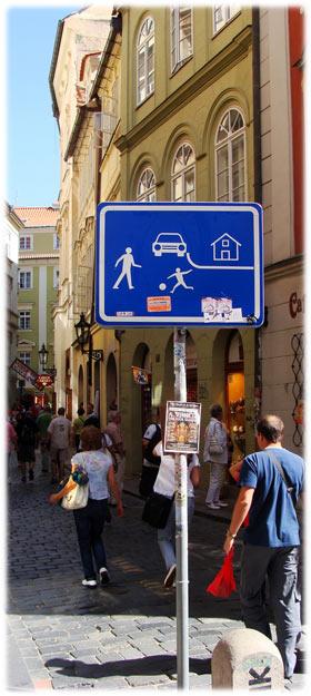 Prague Road Sign